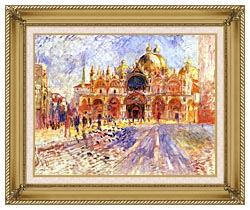 Pierre Auguste Renoir Piazza San Marco Venice canvas with gallery gold wood frame