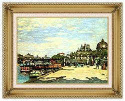Pierre Auguste Renoir The Pont Des Arts canvas with gallery gold wood frame