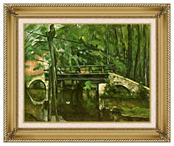 Paul Cezanne The Bridge At Maincy canvas with gallery gold wood frame