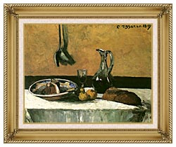Camille Pissarro Kitchen Still Life canvas with gallery gold wood frame