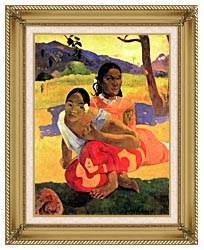 Paul Gauguin When Will You Marry canvas with gallery gold wood frame