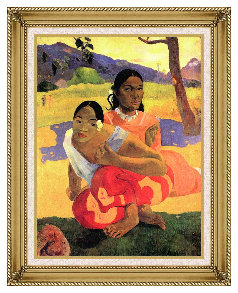 Paul Gauguin When Will You Marry? with Gallery Gold Frame w/Liner