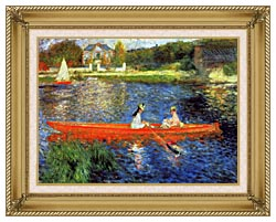 Pierre Auguste Renoir The Skiff canvas with gallery gold wood frame