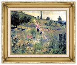 Pierre Auguste Renoir Path Winding Through High Grass canvas with gallery gold wood frame