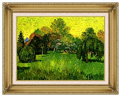 Vincent Van Gogh Public Park With Weeping Willow The Poets Garden I canvas with gallery gold wood frame