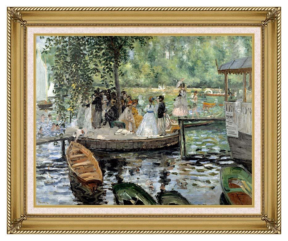 Pierre Auguste Renoir La Grenouillere with Gallery Gold Frame w/Liner