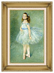 Pierre Auguste Renoir The Dancer canvas with gallery gold wood frame
