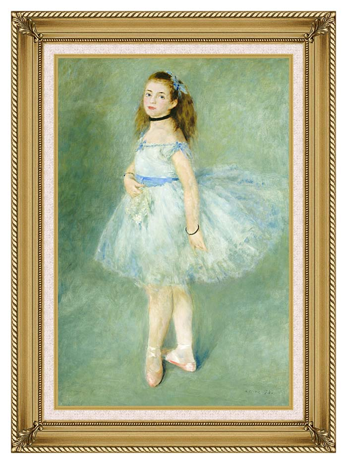 Pierre Auguste Renoir The Dancer with Gallery Gold Frame w/Liner
