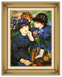 Pierre Auguste Renoir Two Girls canvas with gallery gold wood frame