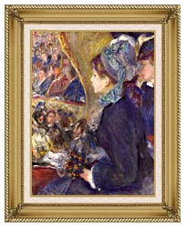 Pierre Auguste Renoir La Premiere Sortie canvas with gallery gold wood frame