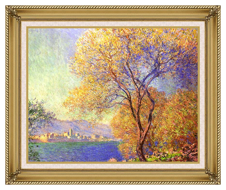 Claude Monet Antibes Seen from La Salis with Gallery Gold Frame w/Liner