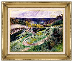 Pierre Auguste Renoir Road At Wargemont canvas with gallery gold wood frame