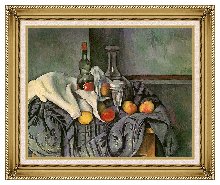 Paul Cezanne Still Life with Peppermint Bottle with Gallery Gold Frame w/Liner