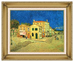 Vincent Van Gogh Vincents House In Arles canvas with gallery gold wood frame