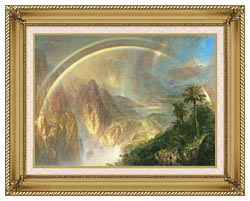 Frederic Edwin Church Rainy Season In The Tropics Detail canvas with gallery gold wood frame