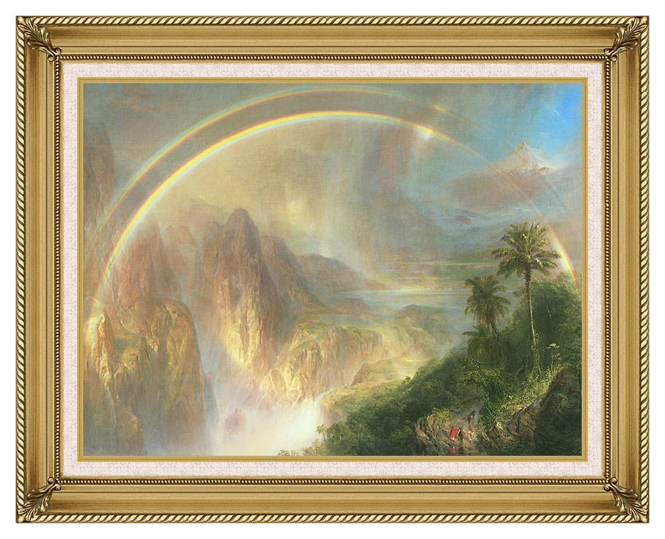 Frederic Edwin Church Rainy Season in the Tropics (detail) with Gallery Gold Frame w/Liner