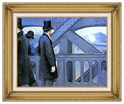 Gustave Caillebotte The Europe Bridge canvas with gallery gold wood frame