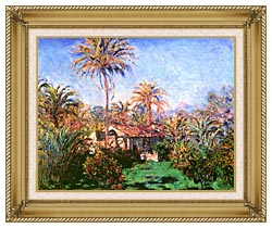 Claude Monet Palm Trees At Bordighera canvas with gallery gold wood frame