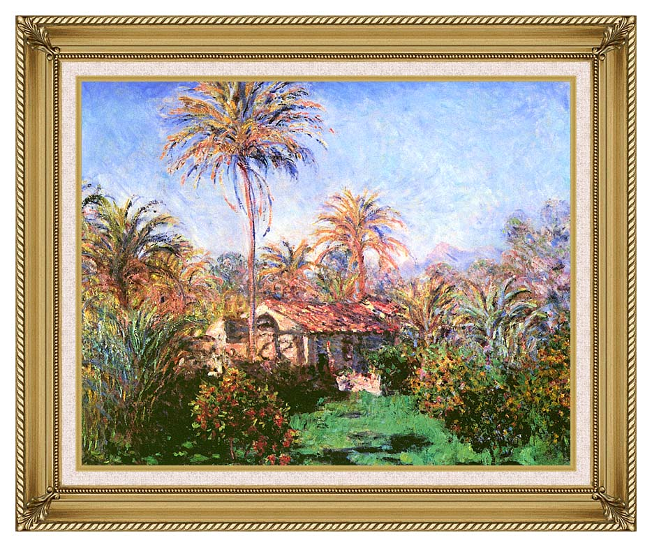 Claude Monet Palm Trees at Bordighera with Gallery Gold Frame w/Liner