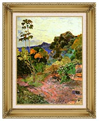 Paul Gauguin Martinique Landscape canvas with gallery gold wood frame