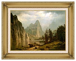 Albert Bierstadt Merced River Yosemite Valley canvas with gallery gold wood frame