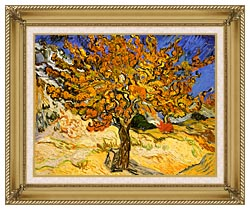 Vincent Van Gogh Mulberry Tree canvas with gallery gold wood frame