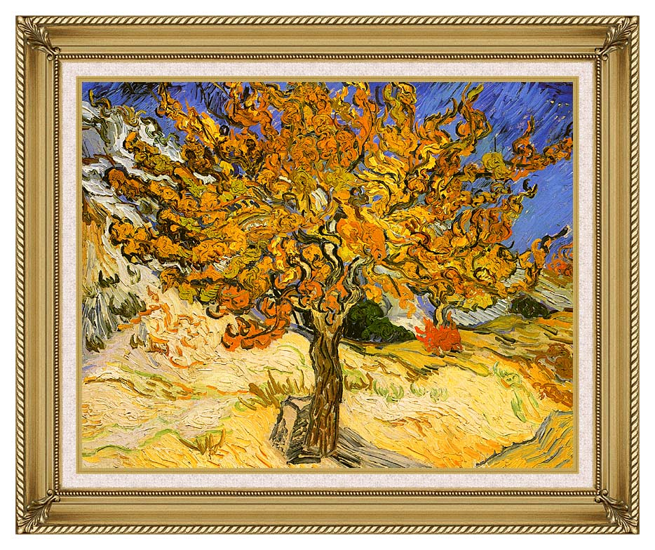 Vincent van Gogh Mulberry Tree with Gallery Gold Frame w/Liner