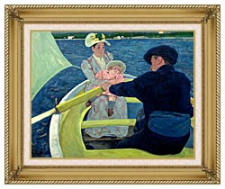 Mary Cassatt The Boating Party canvas with gallery gold wood frame