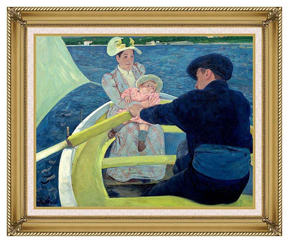 Mary Cassatt The Boating Party with Gallery Gold Frame w/Liner