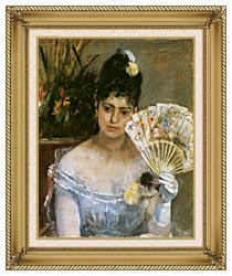 Berthe Morisot At The Ball canvas with gallery gold wood frame