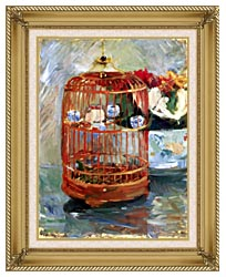 Berthe Morisot The Cage canvas with gallery gold wood frame