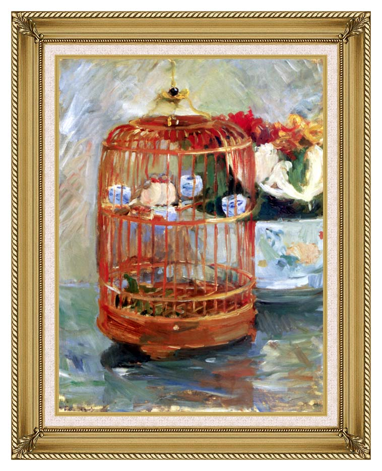 Berthe Morisot The Cage with Gallery Gold Frame w/Liner