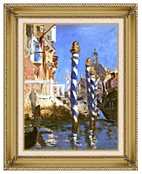 Edouard Manet The Grand Canal   Venice Italy canvas with gallery gold wood frame
