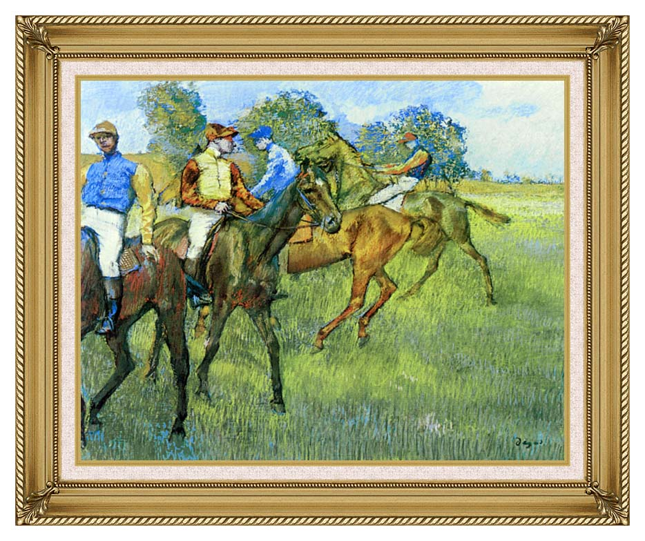 Edgar Degas Race Horses with Gallery Gold Frame w/Liner