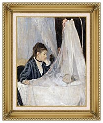 Berthe Morisot The Cradle canvas with gallery gold wood frame