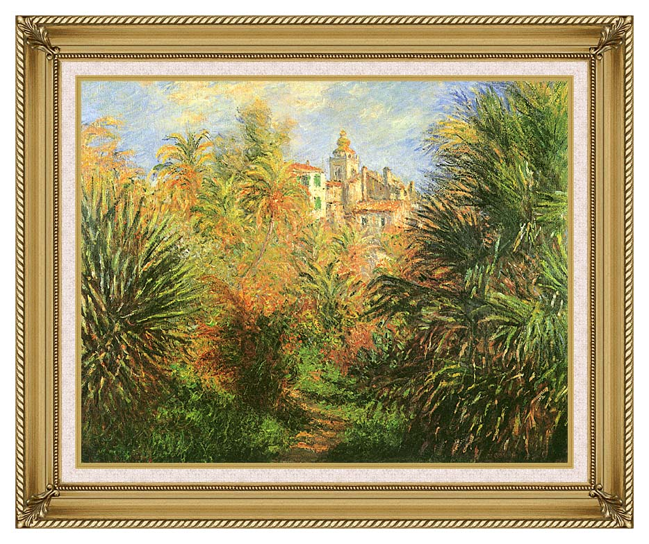 Claude Monet Gardens at Bordighera with Gallery Gold Frame w/Liner