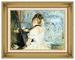 Berthe Morisot Lady At Her Toilette canvas with gallery gold wood frame