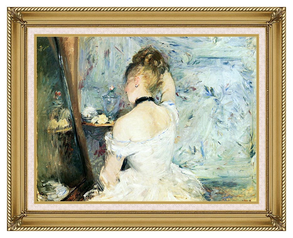 Berthe Morisot Lady at Her Toilette with Gallery Gold Frame w/Liner