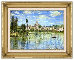 Claude Monet Vetheuil In Summer canvas with gallery gold wood frame