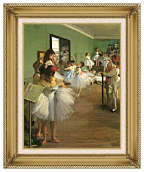 Edgar Degas The Dance Class canvas with gallery gold wood frame