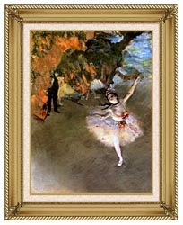 Edgar Degas The Star canvas with gallery gold wood frame