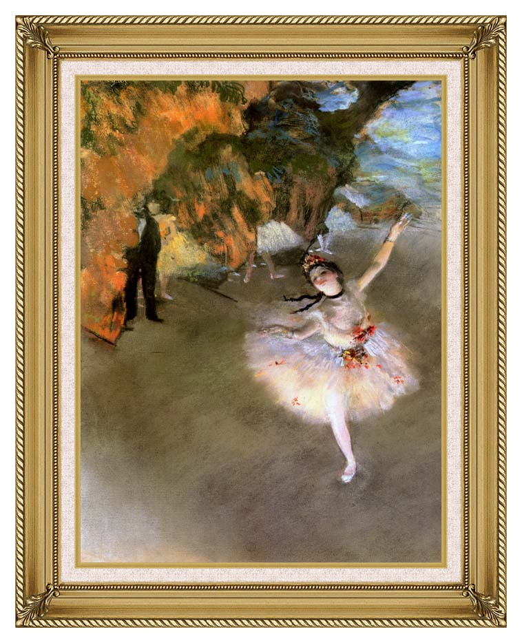 Edgar Degas The Star with Gallery Gold Frame w/Liner