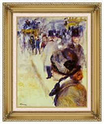 Pierre Auguste Renoir Place Clichy canvas with gallery gold wood frame