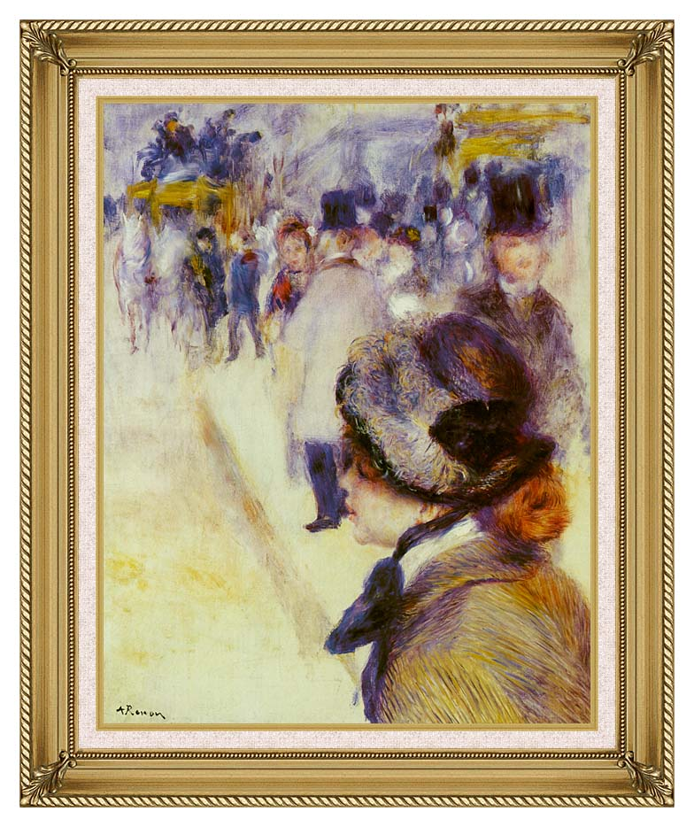 Pierre Auguste Renoir Place Clichy with Gallery Gold Frame w/Liner