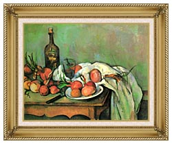 Paul Cezanne Still Life With Onions canvas with gallery gold wood frame