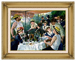Pierre Auguste Renoir The Luncheon Of The Boating Party canvas with gallery gold wood frame