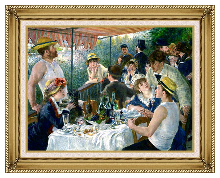 Pierre Auguste Renoir The Luncheon of the Boating Party with Gallery Gold Frame w/Liner