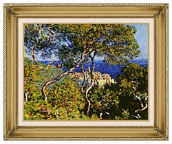Claude Monet Bordighera canvas with gallery gold wood frame