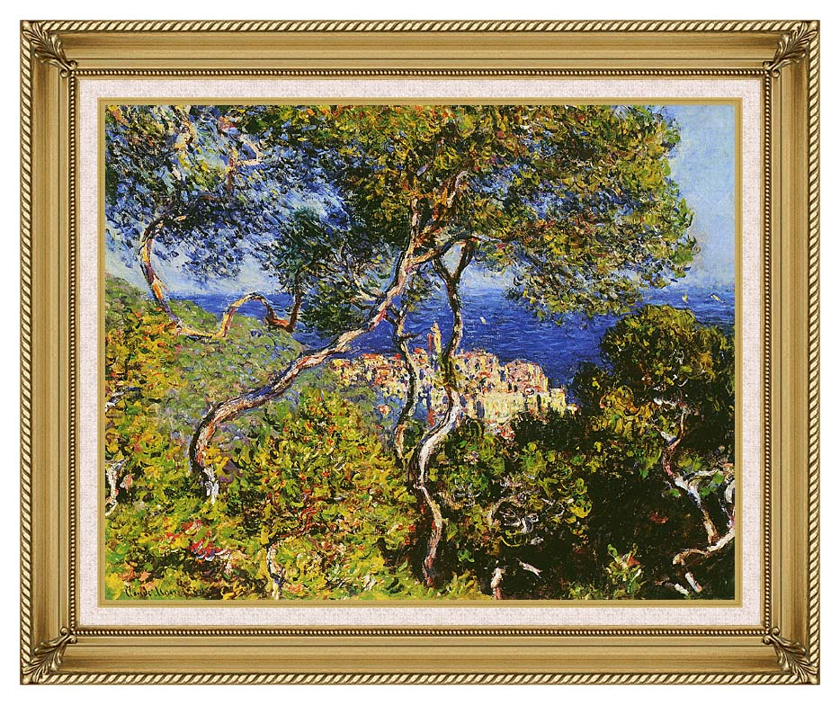 Claude Monet Bordighera with Gallery Gold Frame w/Liner