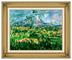 Paul Cezanne Mont Sainte Victoire 1904 canvas with gallery gold wood frame